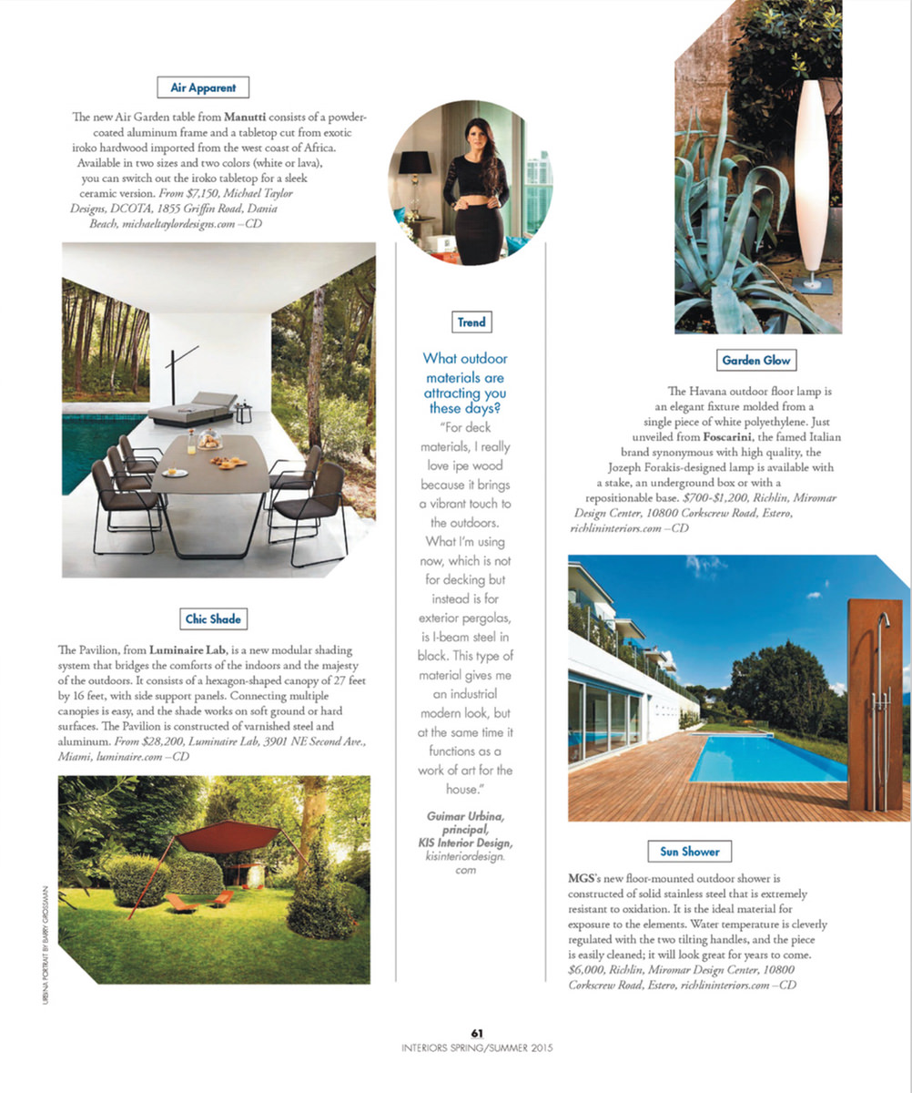 Richlin Interiors Naples Florida Modern Luxury Home Magazine Southwest April